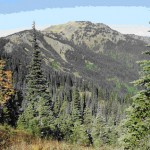 Hurricane Hill from the road past the visitors center