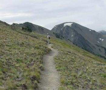 Moose Mountain, right center, from Lillian Ridge trail