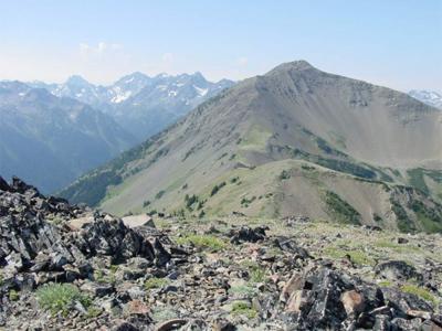 Gray Wolf Ridge Peak from Mt. Baldy.