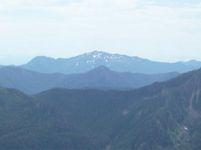 Mt. Jupitor, farthest peak and ridge, from Silver Lake Saddle.