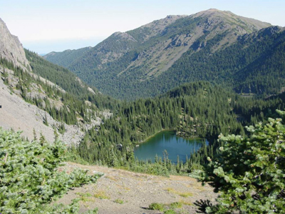 Mt. Townsend from the saddle above Silver Lake.