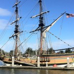The Lady Washington safe at dock