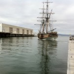 Lady Washington backing into berth