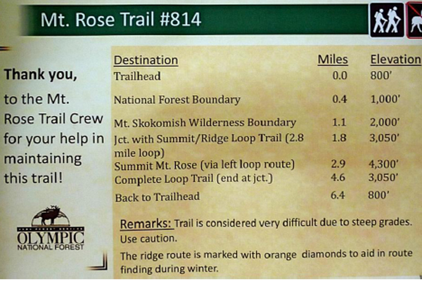 Mt.Rose Trail #814