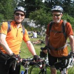 "Pat and Neil, halfway to Portland in the ""STP"". They also lead Mountain Biking!"