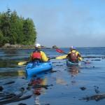 Kayaking around the point