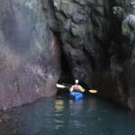 Joel exploring a cave