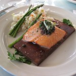 Plank Salmon prepared perfectly