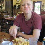 Garrett's lunch at Blackberry Cafe