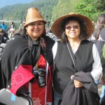 Former tribal vice chairperson Rosi Francis (right) and Brenda Francis