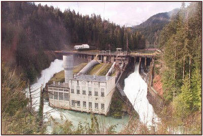 Elwha Dam and Lake Aldwell