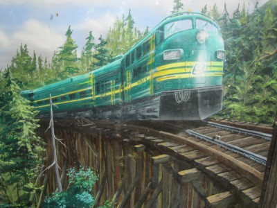 Painting at Johnson Creek Trestle