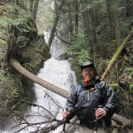 Bret and Lake Mills waterfall