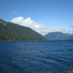 Lake Crescent on a sunny day