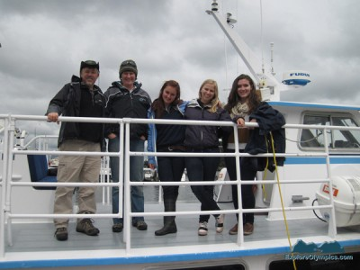 Bret, Capt Korie, Cara, Becca and Emily