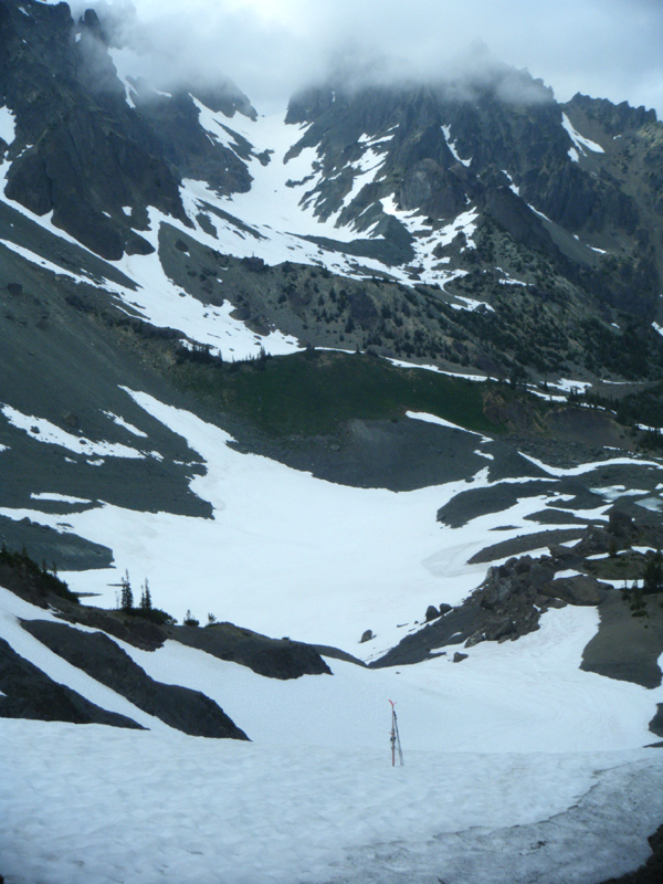 Looking down to Upper Basin