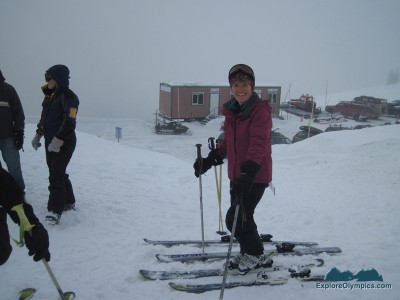 Lynne is ready to ski