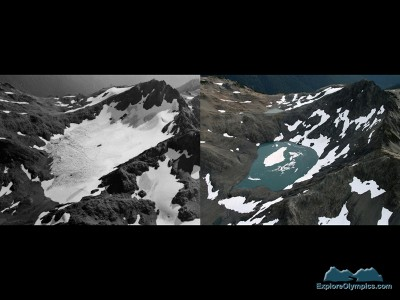 Ferry Glacier in 1961 and 2009. B Baccus Photo