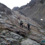 Hiking up to the Humes Glacier