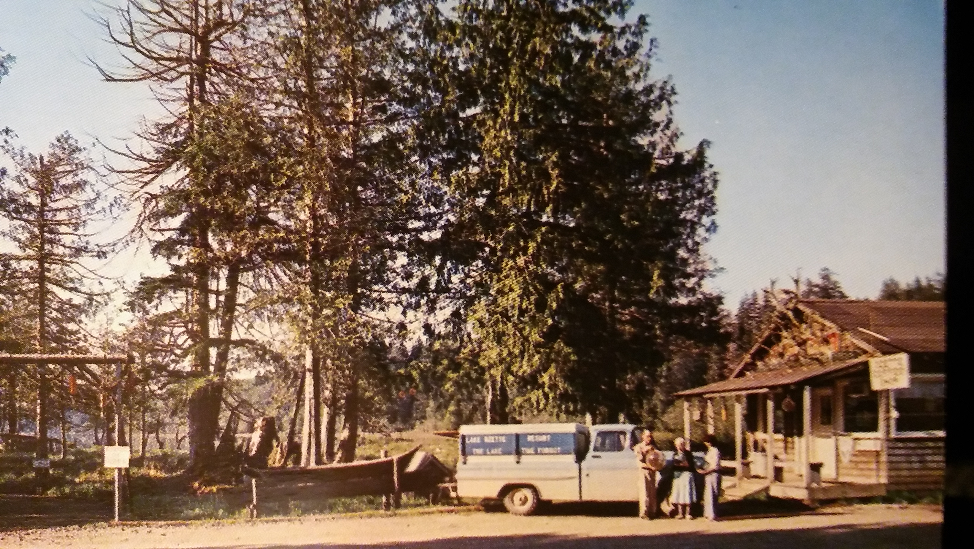 Original Lake Ozette Resort. Pete and Mabel Spigarelli with Mother Webb