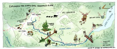 Per Berg Map North Fork Skokomish River CLICK TO ENLARGE