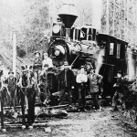 Moving Climax Locomotive to Snow Creek. Photo courtesy PA Public Library