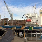 Olympic Peninsula logs headed to China from Port Angeles Harbor