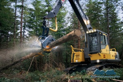 A harvester in action. Courtesy of www.heavyequipment.com