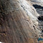 Groves gouged into rocks at Anderson Glacier