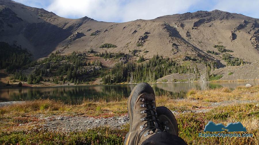 Relaxing at Goat Lake