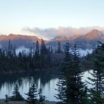 Setting sun at Goat Lake