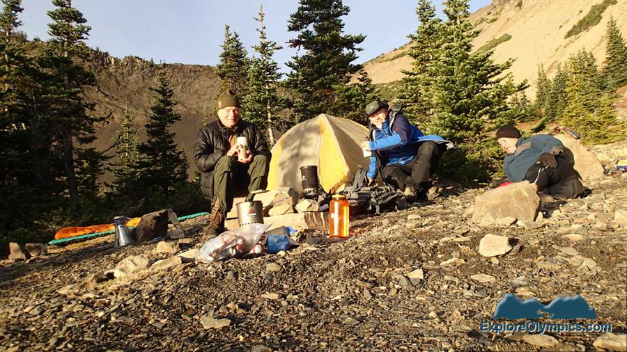 Cold morning at Goat Lake
