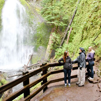 Cara, Bret and Becca at Marymere Falls - Olympic National Park