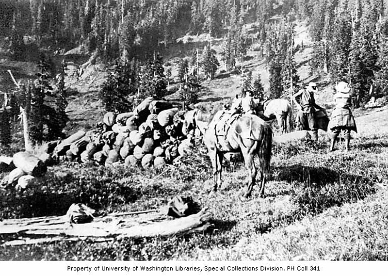 Seattle Mountaineers at Kimta Creek Camp – 1920 - UW digital collection