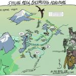 Skyline trail map by Sequim artist Per Berg