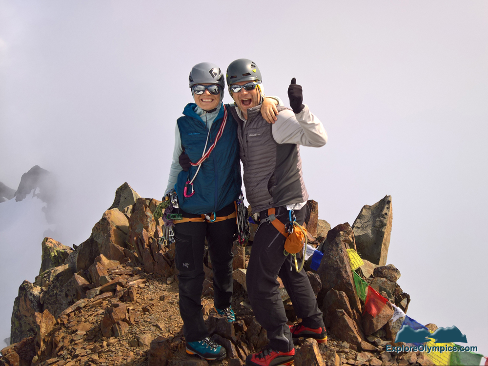 Elise and Tom on the Summit of Mount Olympus