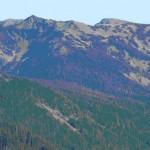 Eagle Peak, left center, Obstruction Point road and Obstruction Peak, right center