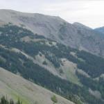 Elk Mt., center, on grand ridge
