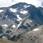 Grand peak, center, rises above Grand Valley