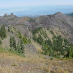Griff peak, right, from Hurricane Hill.