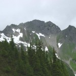 Mt. Appleton from Appleton Pass. Route is up the high saddle, just left of pk