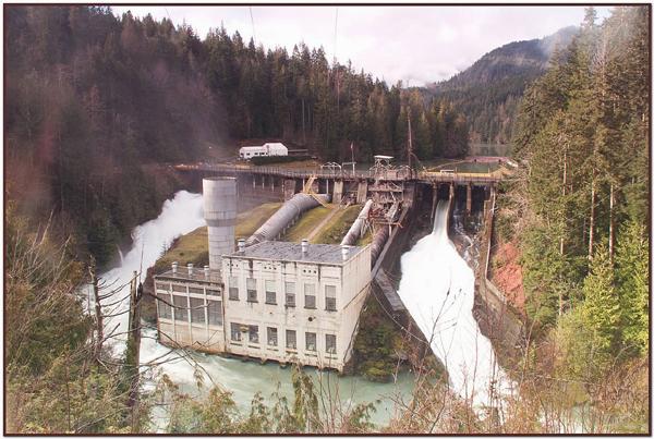 Elwha Dam and Lake Aldwell