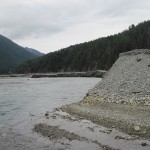 Much gravel eroded from Lake Mills