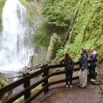 Cara Bret and Becca at the falls