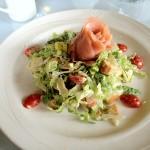 Salmon caesar salad at Lake Crescent Lodge