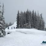 On the snowshoe trail