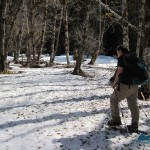 End of the journey on snowshoes