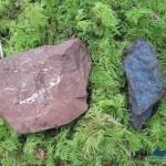 Basalt reddish with Hematite and Pyrolusite (manganese)
