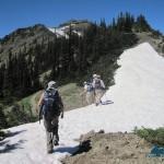 Crossing snow field