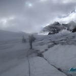 Climbing Humes Glacier